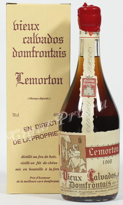 Calvados Lemorton 1968 Кальвадос Лемортон Винтаж 1968