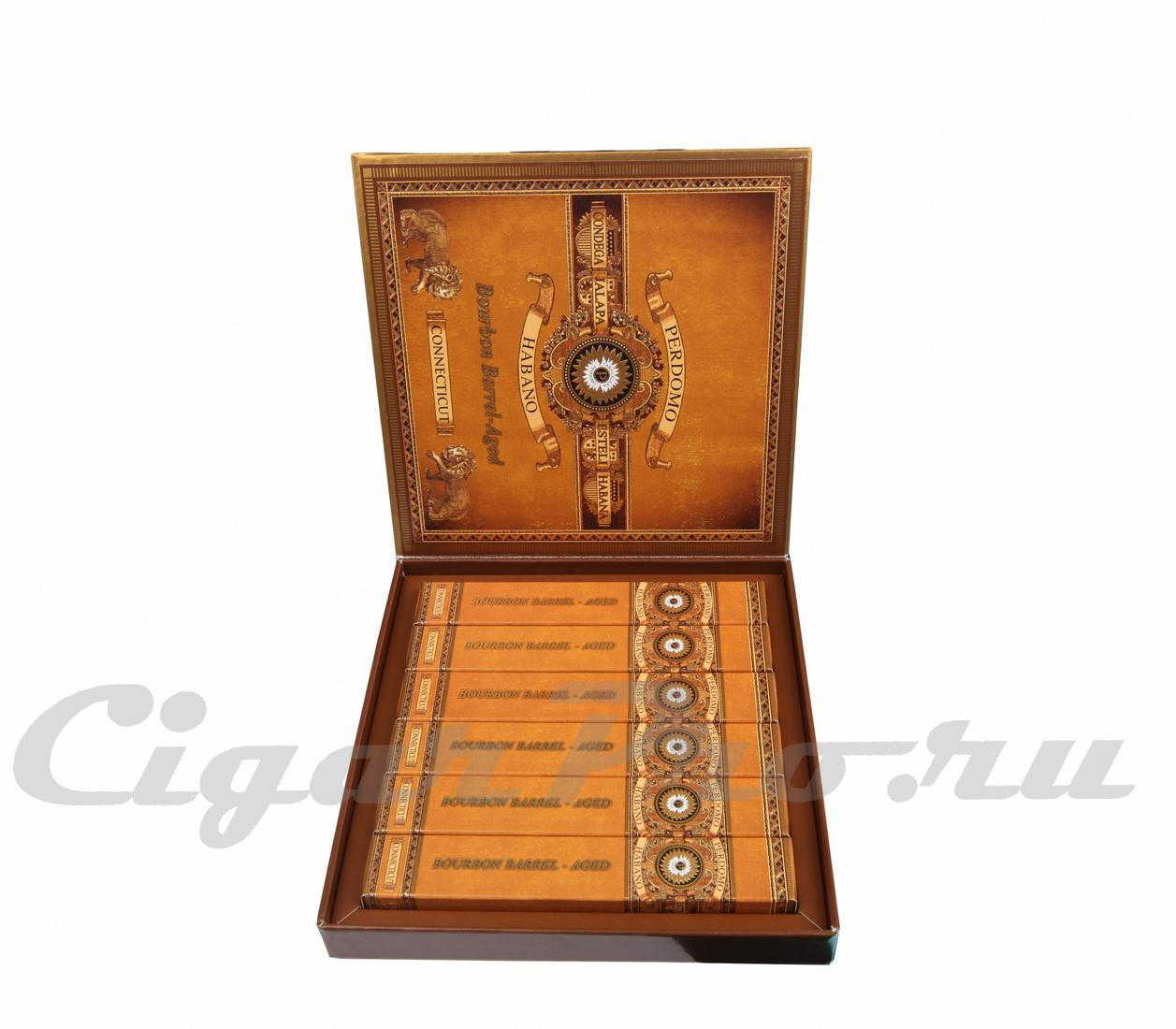 Perdomo Habano Bourbon Barrel-Aged Epicure Connecticut Gift Set