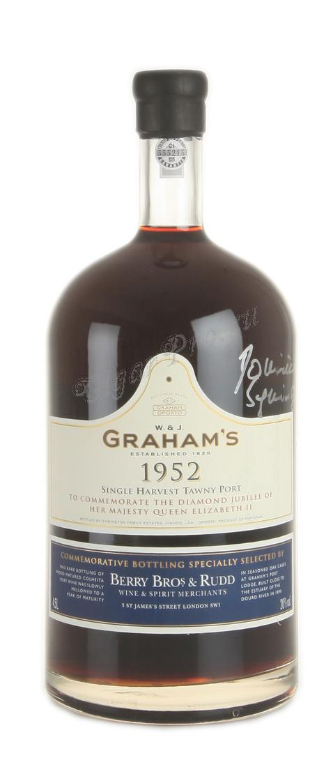 Grahams Single Harvest 1952 4.5L портвейн Грэмс Сингл Харвест 1952 4.5Л