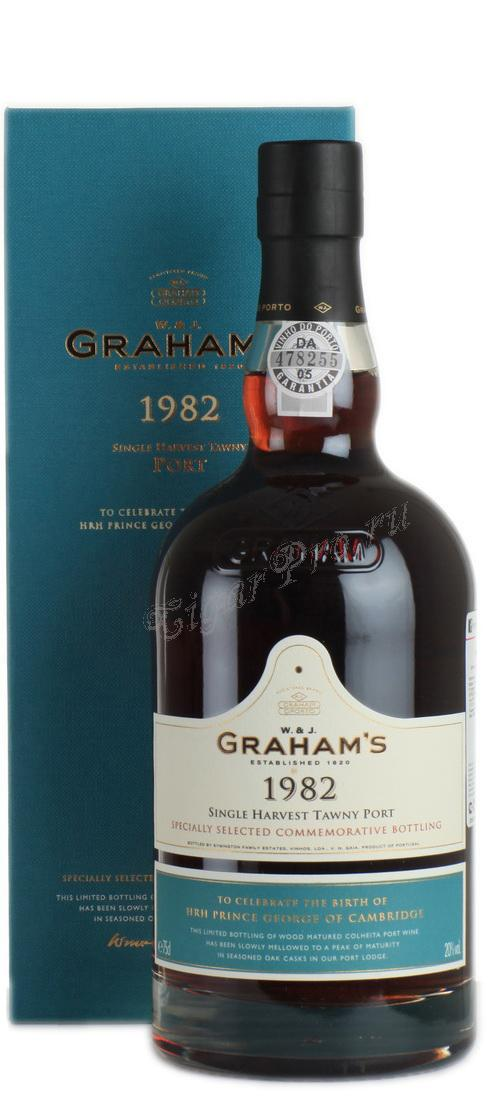 Grahams Single Harvest Tawny 1982 портвейн Грэмс Сингл Харвест Тони 1982 в п/у