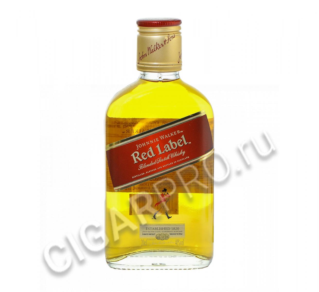 Johnnie Walker Red Label купить шотландский виски Джонни Уокер Рэд Лэйбл 0,2 л цена