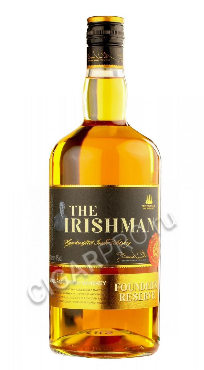 Ирландский виски The Irishman Founders Reserve 7 years 1l виски Айришмен Фаундерс Резерв 7 лет 1л
