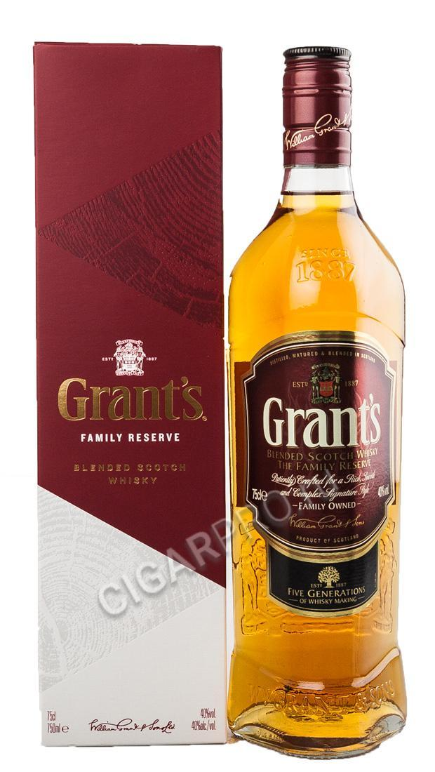 Шотландский виски Grants Family Reserve with 2 glasses купить виски Грантс Фамили Резерв с 2 стаканами цена