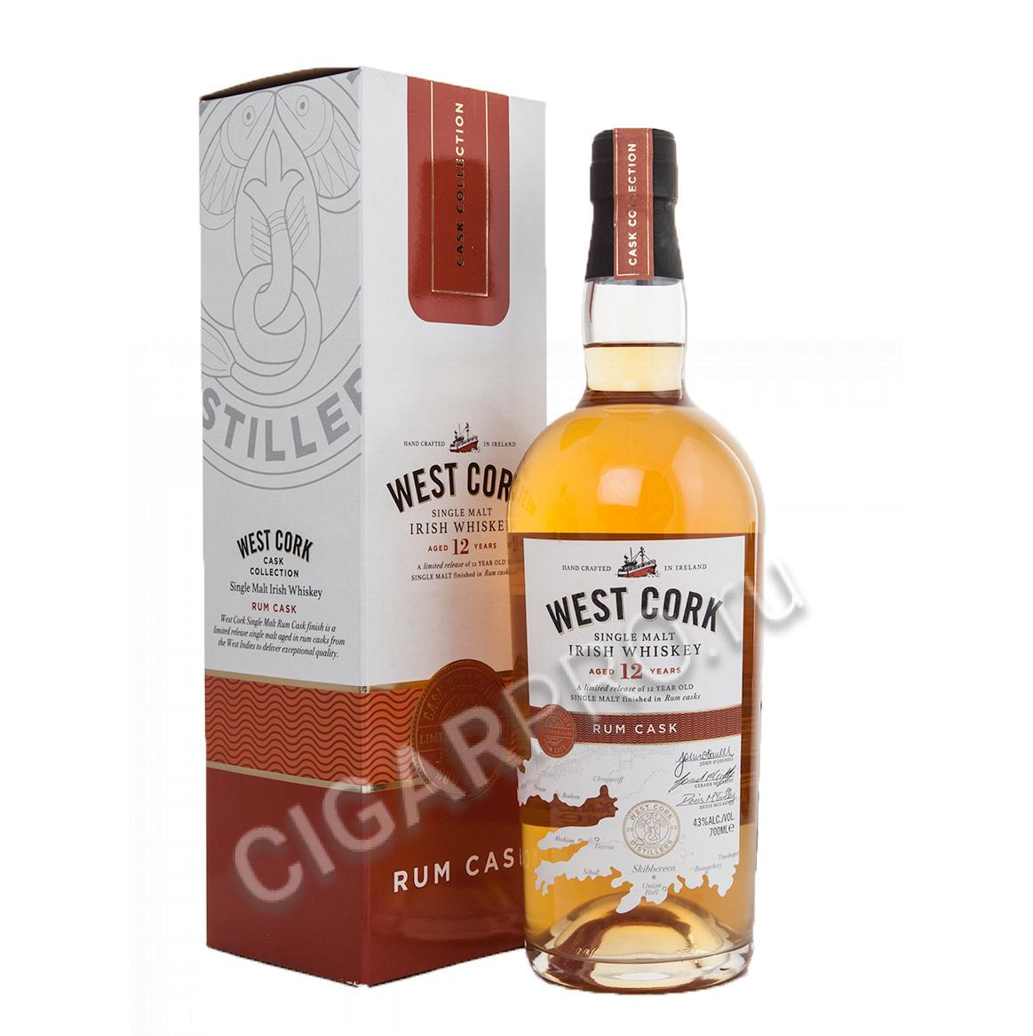 West Cork 12 years Rum Cask Виски Вест Корк 12 лет Ром Каск