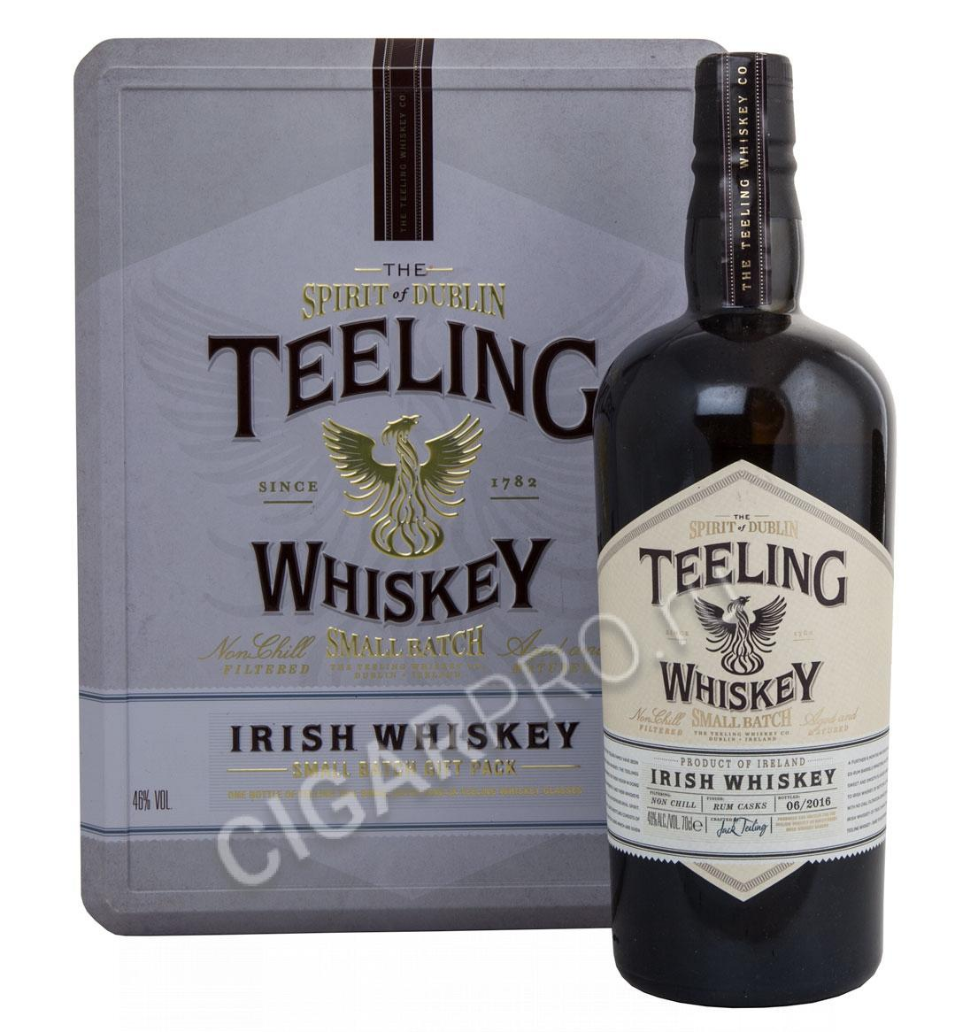 Teeling Irish Whiskey +2 бокала в металл/короб.